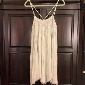 Free People embroidered distressed dress